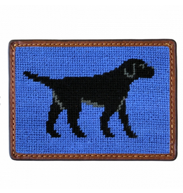Smathers & Branson S&B Needlepoint Card Wallet, black lab