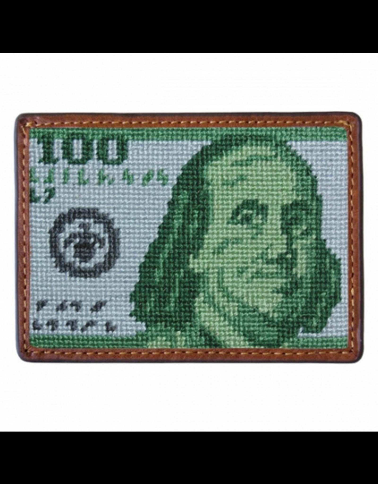 Smathers & Branson S&B Needlepoint Card Wallet, Benjamin