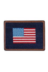 Smathers & Branson S&B Needlepoint Card Wallet, American Flag