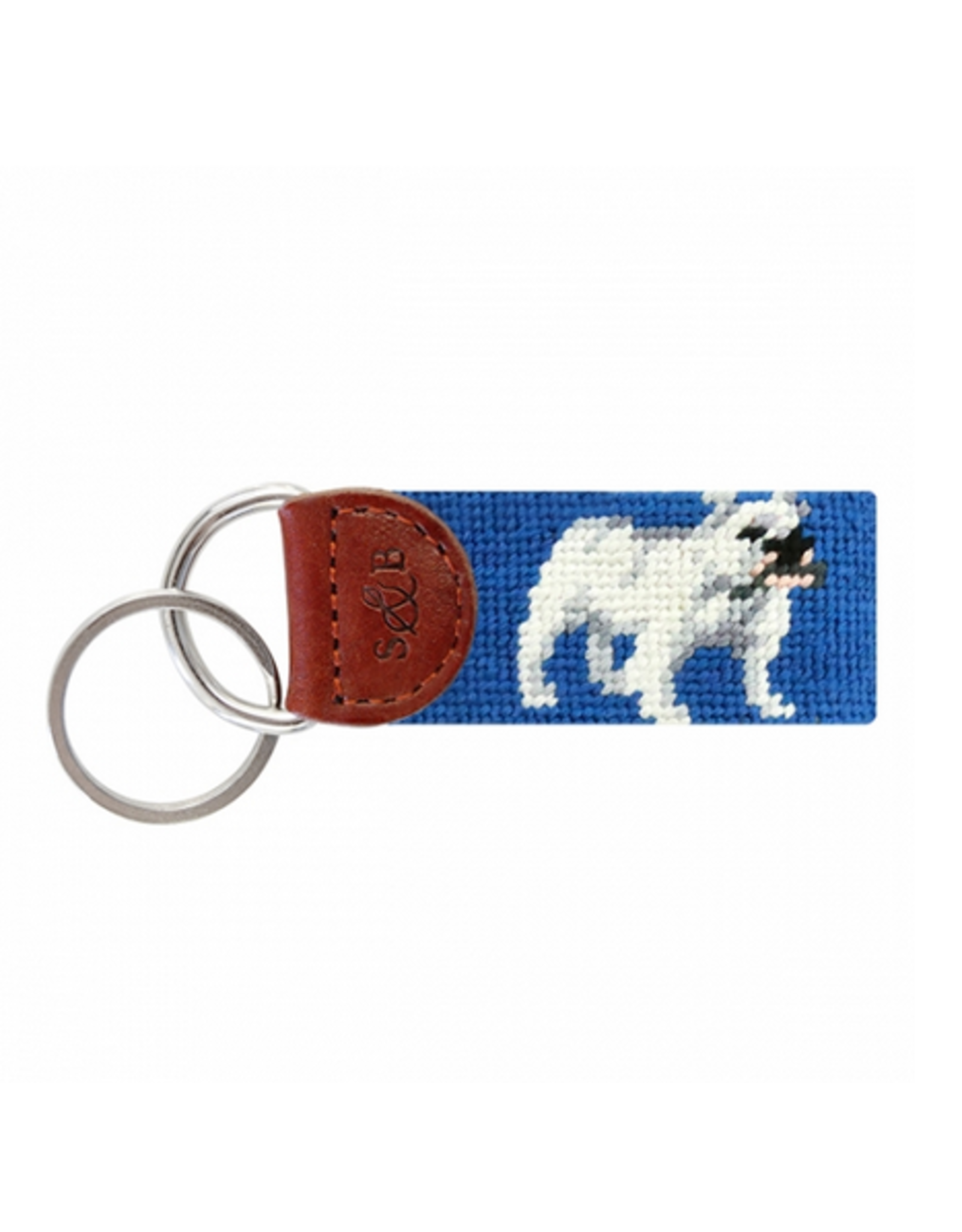 Smathers & Branson S&B Needlepoint Key Fob, Bulldog