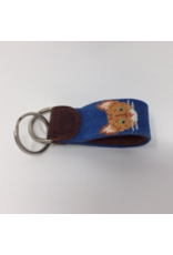 Smathers & Branson S&B Needlepoint Key Fob, Orange Tabby Cat