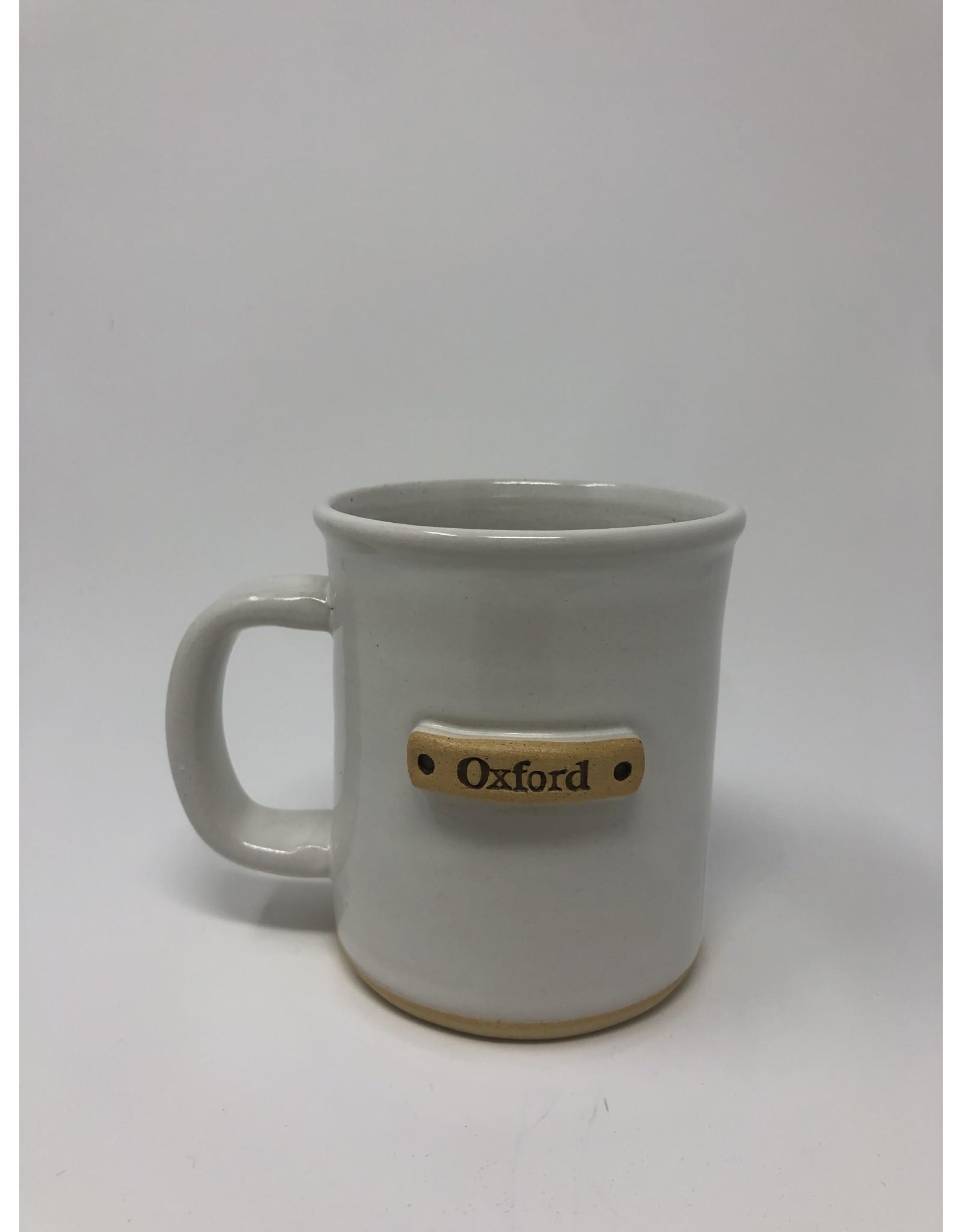 Mud Love Banded Oxford Mug, White