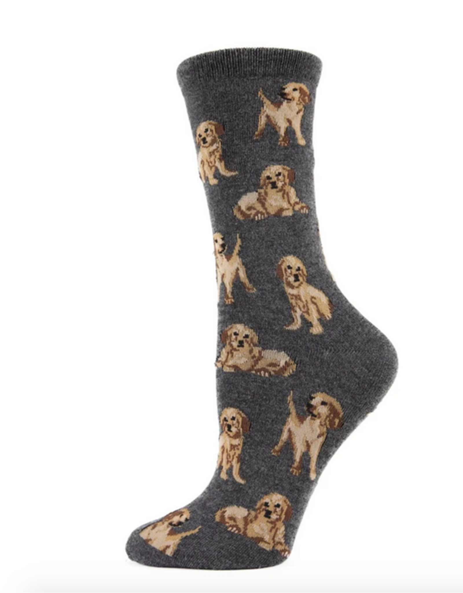 Crew Socks, Golden Retriever, charcoal gray