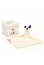 Jellycat My First Puppy Soother, black & cream