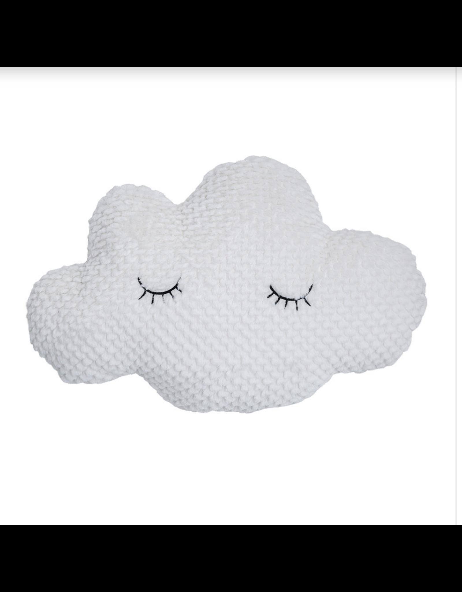 Sleepy Cloud Pillow, white