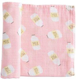 Mud Pie Muslin Swaddle Blanket, pink