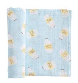 Mud Pie Muslin Swaddle Blanket, blue