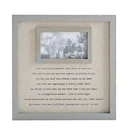 Mud Pie Grandparents Linen Frame