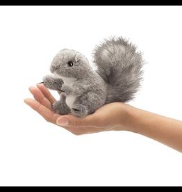 Mini Gray Squirrel Finger Puppet