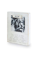 Mud Pie Magnetic Block Frame, Mom