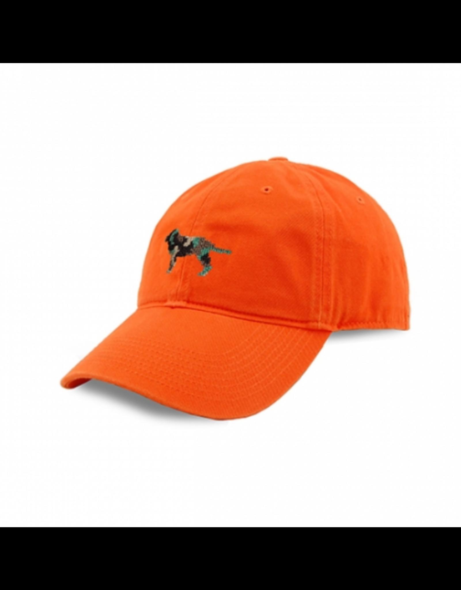 Smathers & Branson S&B Needlepoint Ball Hat, Camo Retriever on Orange