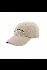 Smathers & Branson S&B Needlepoint Ball Hat, Big Trout on Stone