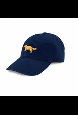 Smathers & Branson S&B Needlepoint Ball Hat, Golden Retriever on Navy