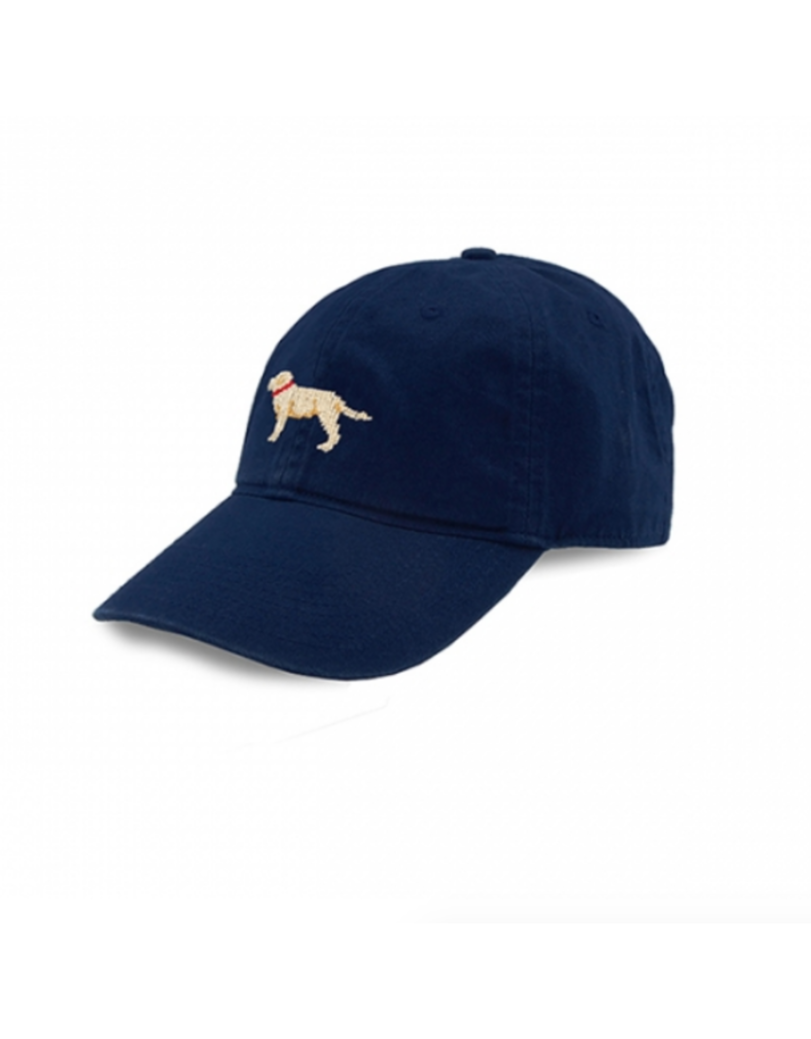 Smathers & Branson S&B Needlepoint Ball Hat, Yellow Lab on Navy