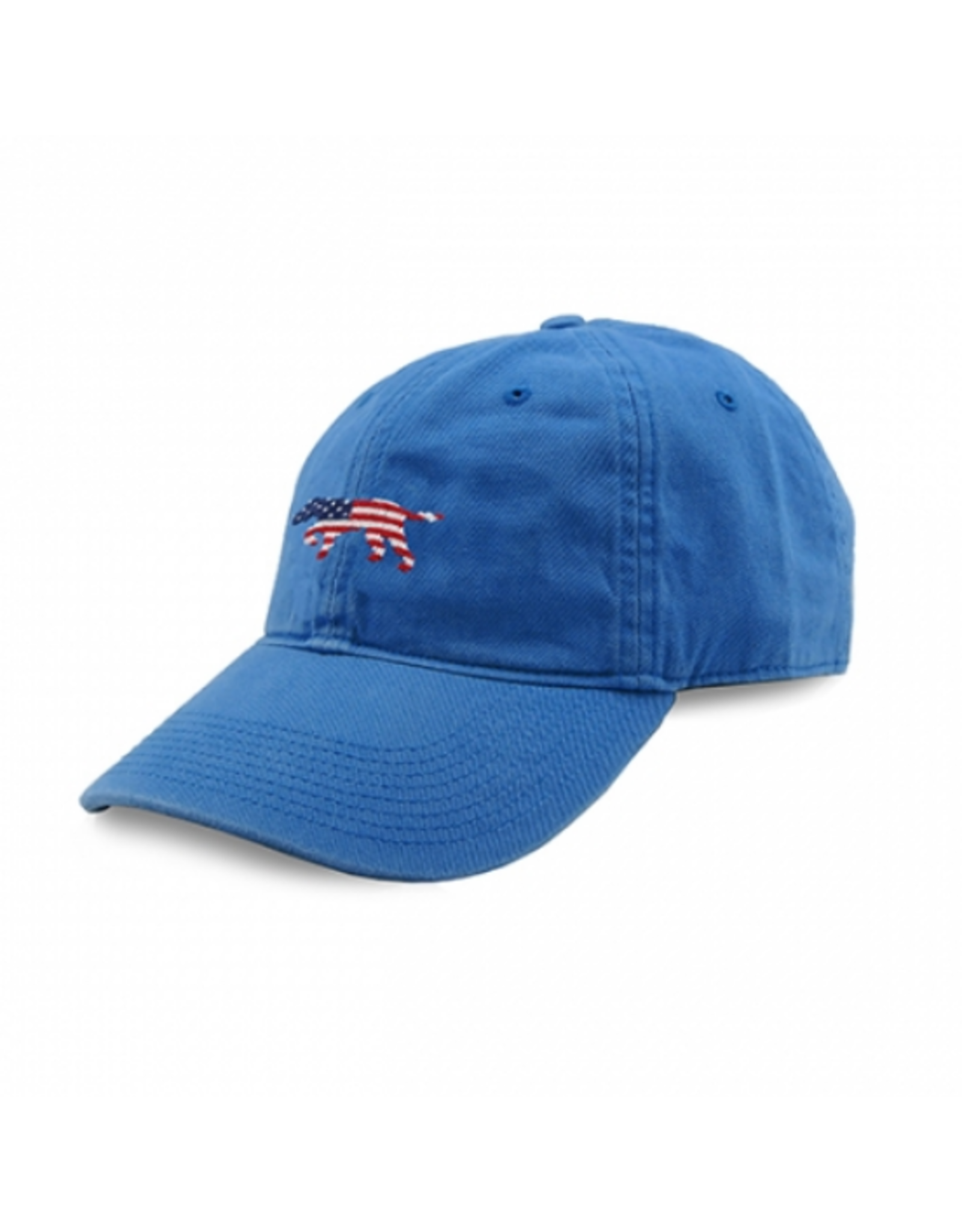 Smathers & Branson S&B Needlepoint Ball Hat, Patriotic Dog on Point