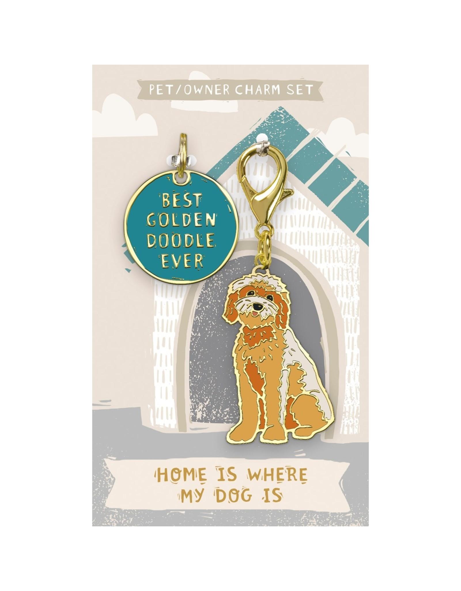 Pet/Owner Charm Set, Goldendoodle