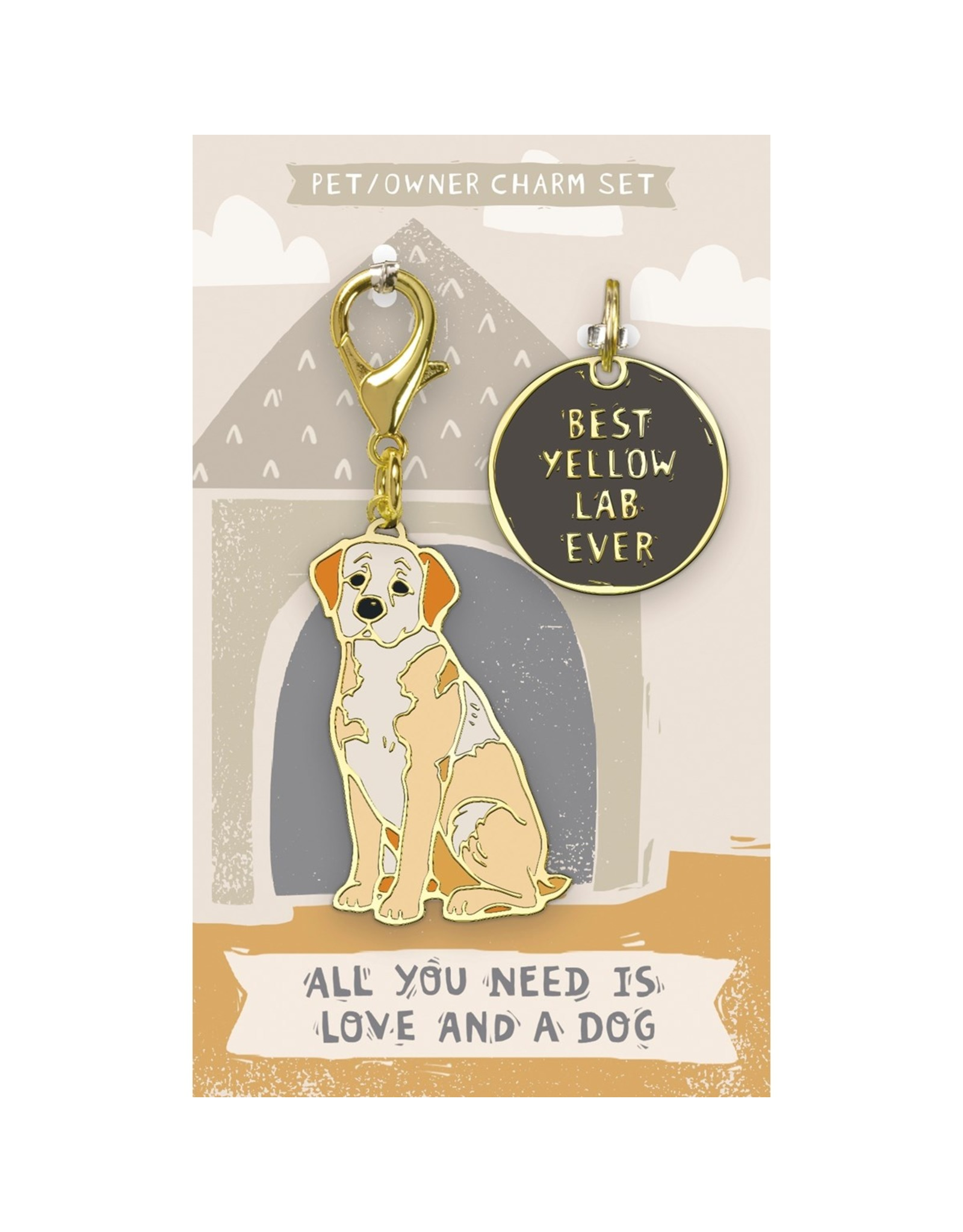 Pet/Owner Charm Set, Yellow Lab