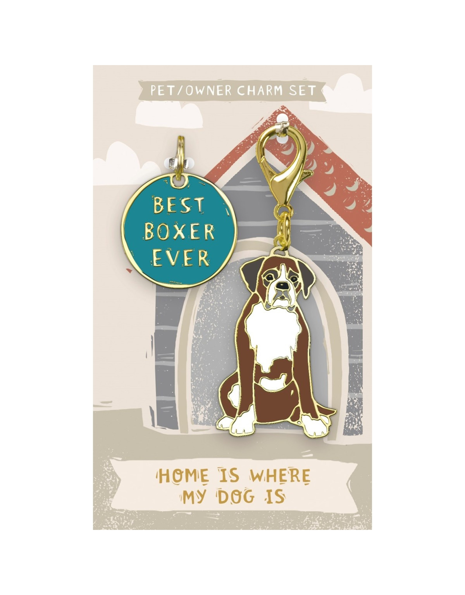 Pet/Owner Charm Set, Boxer