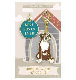 Pet/Owner Charm Set, Boxer