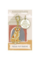 Pet/Owner Charm Set, Golden Retriever