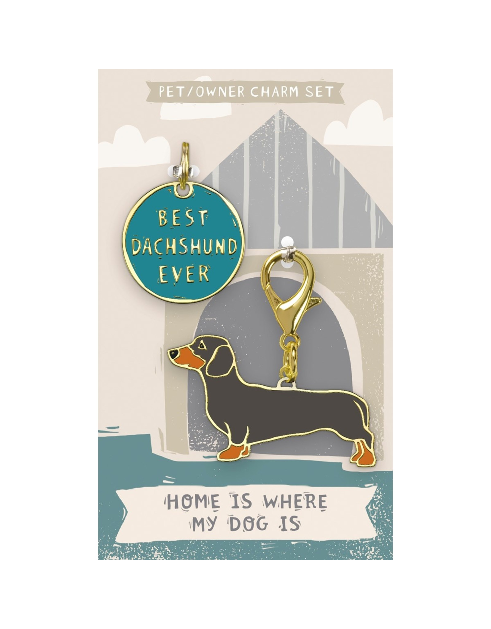 Pet/Owner Charm Set, Dachshund