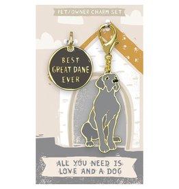 Pet/Owner Charm Set, Great Dane
