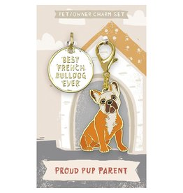 Pet/Owner Charm Set, French Bulldog
