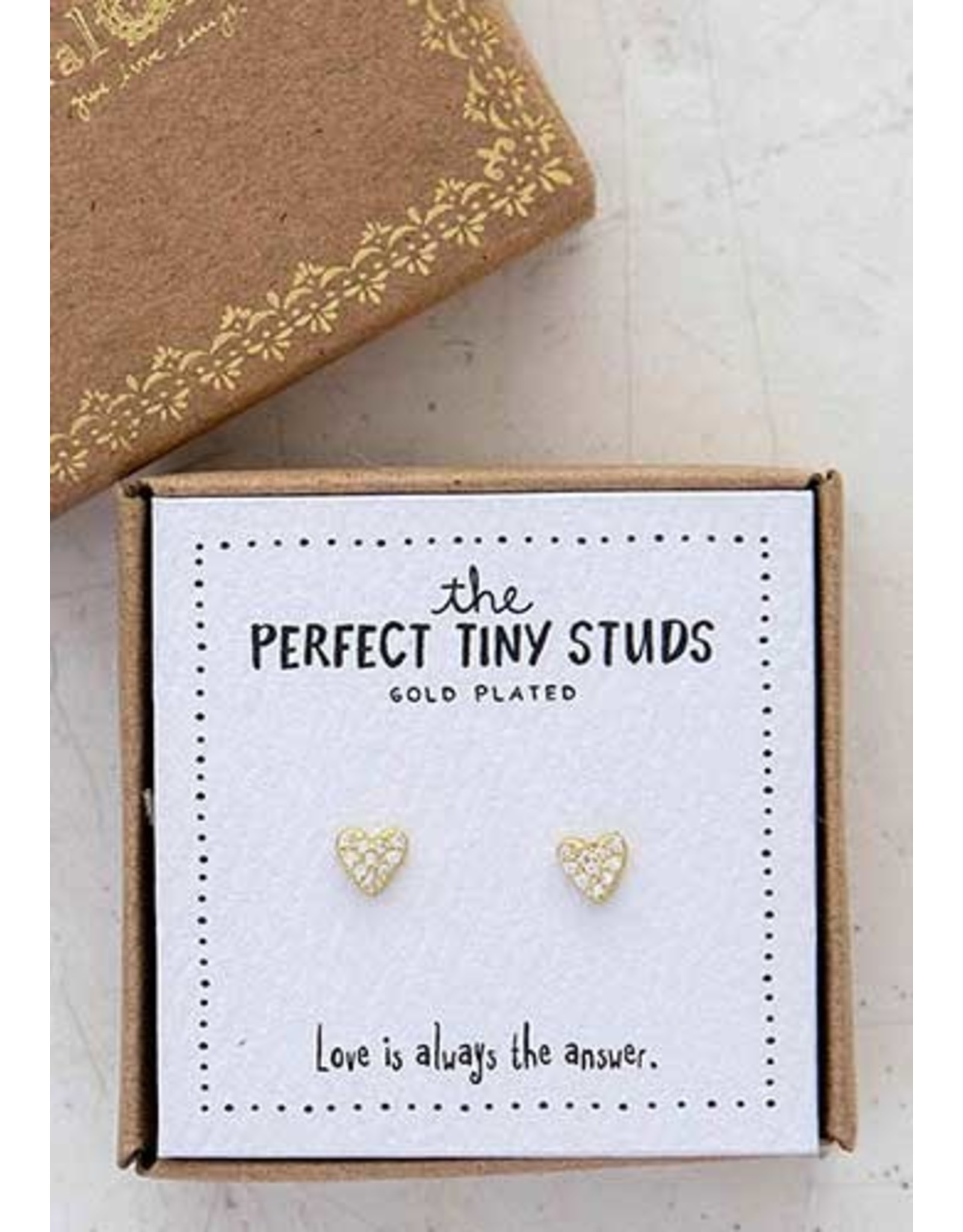 Natural LIfe Tiny Stud Earrings, Heart Perfect