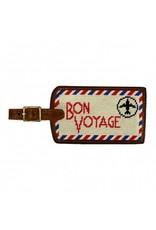 Smathers & Branson S&B Luggage Tag, Bon Voyage, light khaki