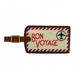 Smathers & Branson S&B Luggage Tag, Bon Voyage, light khaki