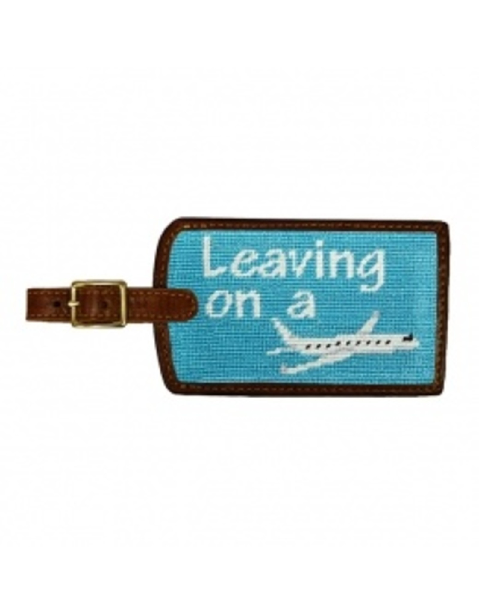 Smathers & Branson S&B Luggage Tag, Leaving On a Plane, teal