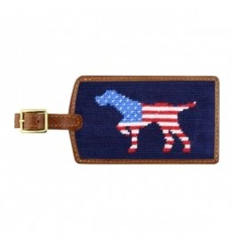 Smathers & Branson S&B Luggage Tag, Patriotic Dog on Point