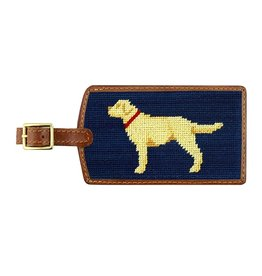 Smathers & Branson S&B Luggage Tag, Yellow Lab, navy blue