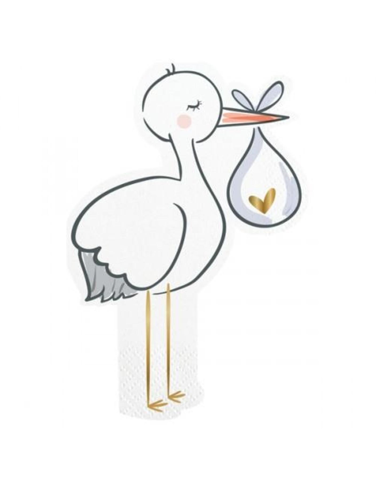 20 ct. Stork Shaped Napkins