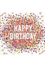 Happy Birthday Napkins w/Confetti Design, 20 ct.