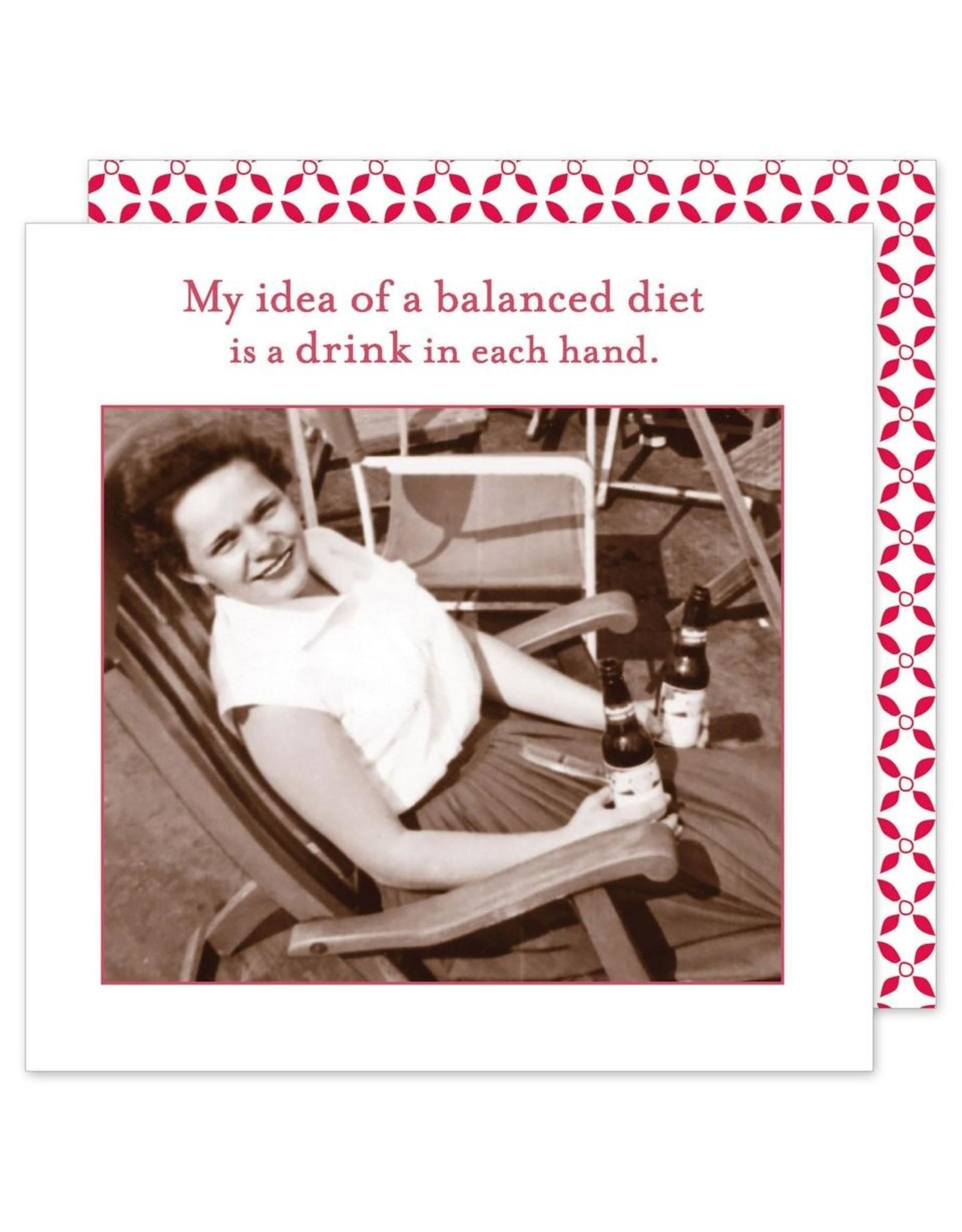 Shannon Martin My Idea of a balanced Diet Napkins