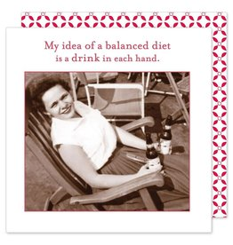 Shannon Martin My Idea of a balanced Diet Napkins