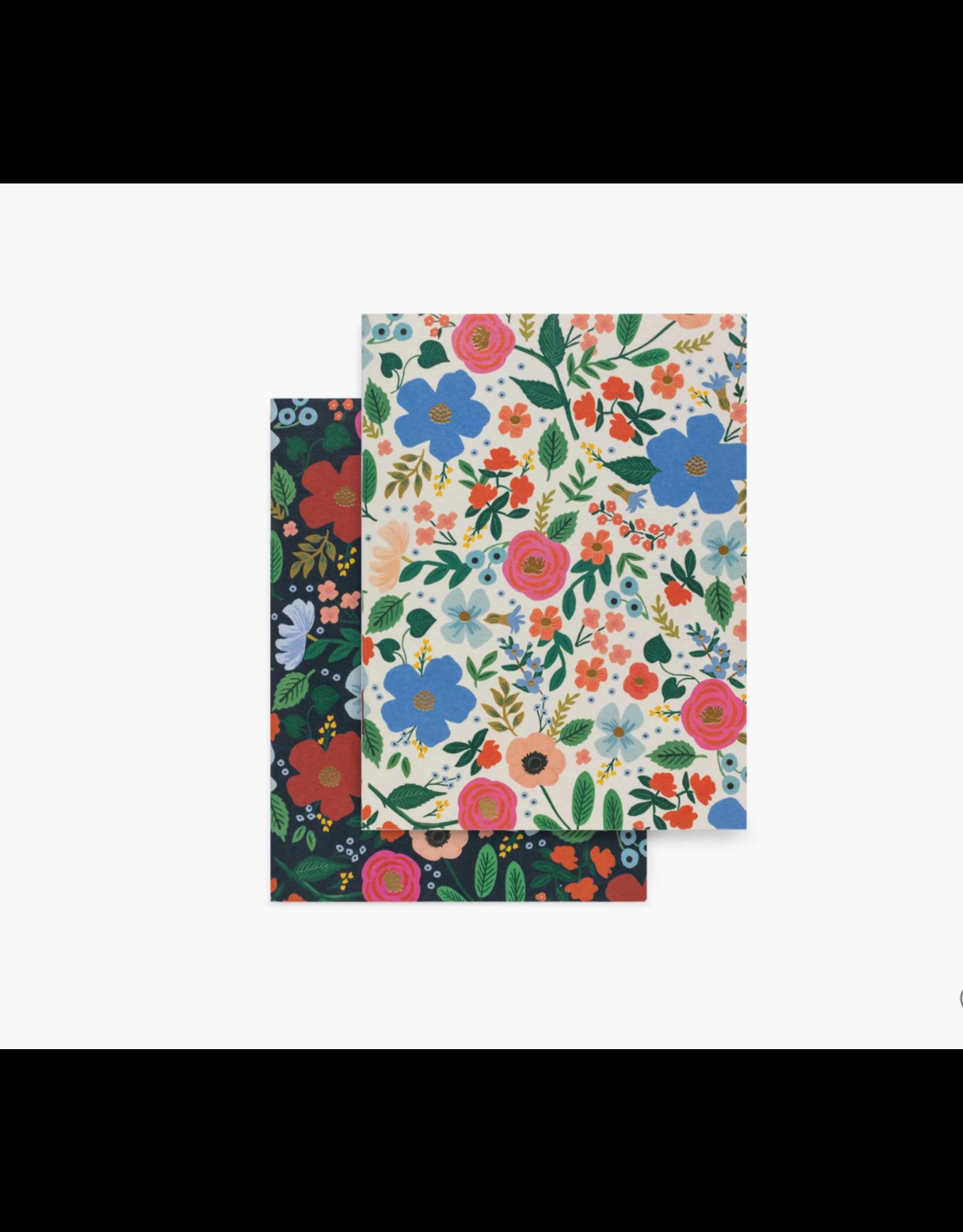 Wild Rose Sm Pocket Notebooks, Set of 2