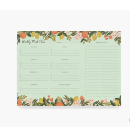 Meal Planner Notepad, Citrus Floral