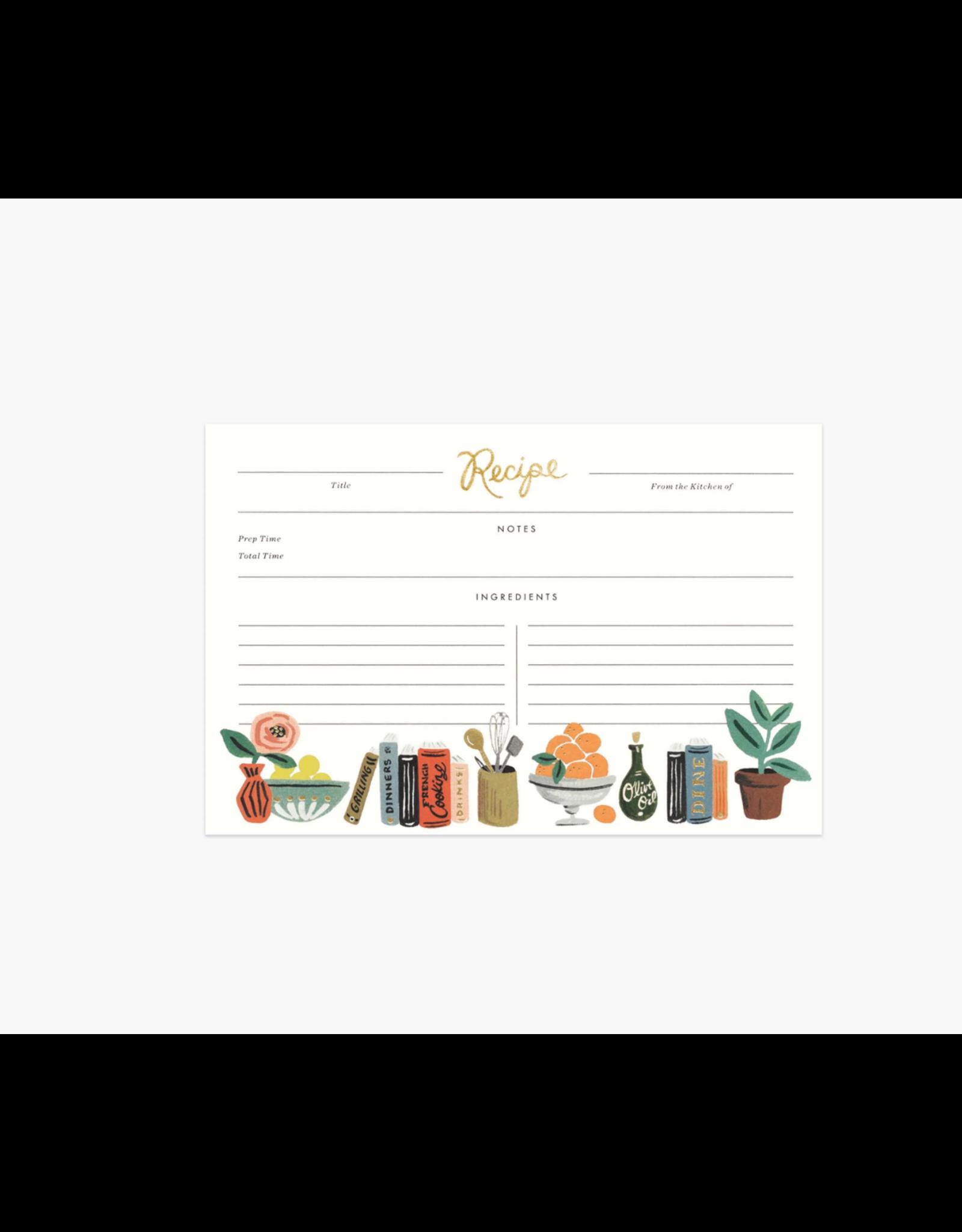 Kitchen Shelf Recipe Cards, Pack of 12