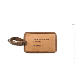 Leather Luggage Tag, Mary Poppins