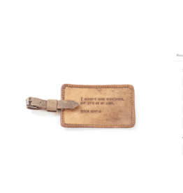 Leather Luggage Tag, Susan Sontag