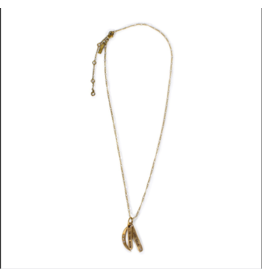 To the Moon and Back Necklace-Brass