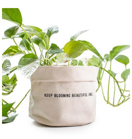 Large Canvas Planter, Keep Blooming...