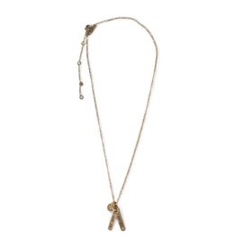 Love You Forever Brass Necklace