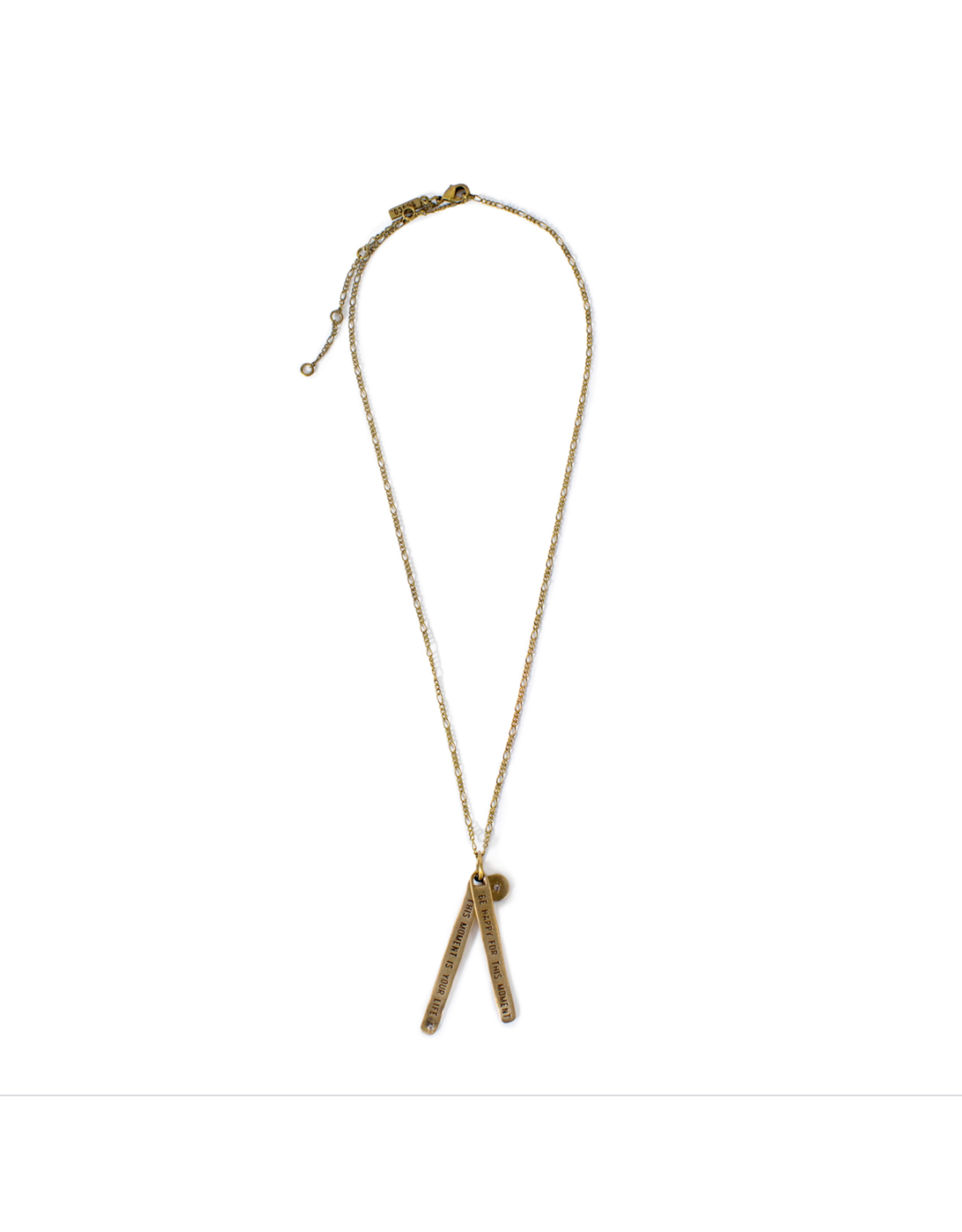 Be Happy for This Moment Brass Necklace