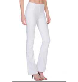 Mid Rise Flare Jegging, White