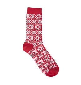 Gallery XOXO Crew Socks, red hot
