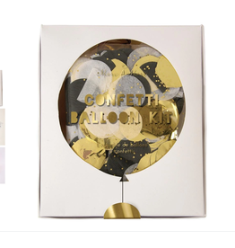Confetti Balloon Kit, gold & silver