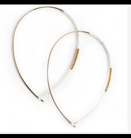 L&E Norah Earrings, white opal